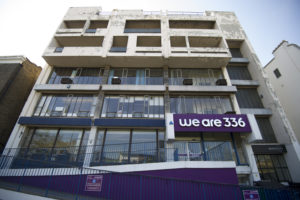 Front of the We Are 336 building