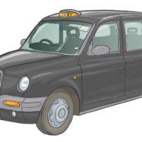 Light black London taxi
