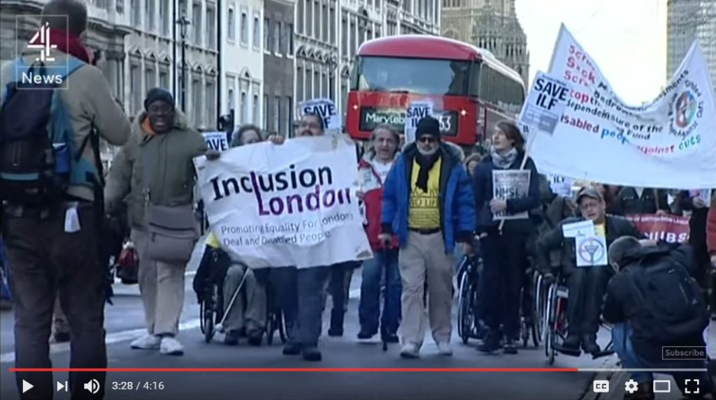 ILF protest on Channel 4 News