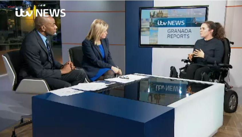 Cherylee Houston interviewed by two ITV News anchors