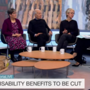 Tracey Lazard challenges the Employment Support Allowance cut on Victoria Derbyshire