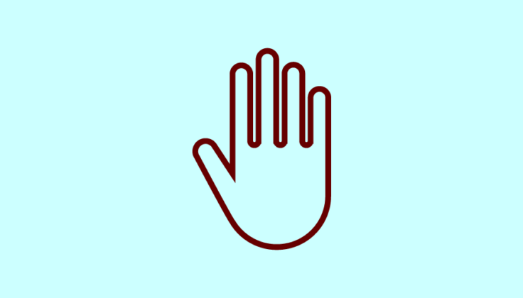Icon of a hand making a 'stop' gesture
