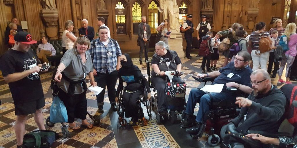 Disabled People against Cuts (DPAC) occupy parliament on 19th July 2017