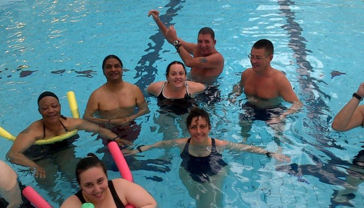 Group of people in a swimming pool