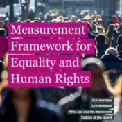Measurement framework for equality and human rights