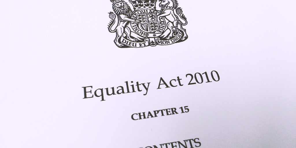 Photo of the front page of the Equality Act 2010