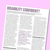 Disability Confident? Article in Trust and Foundation news