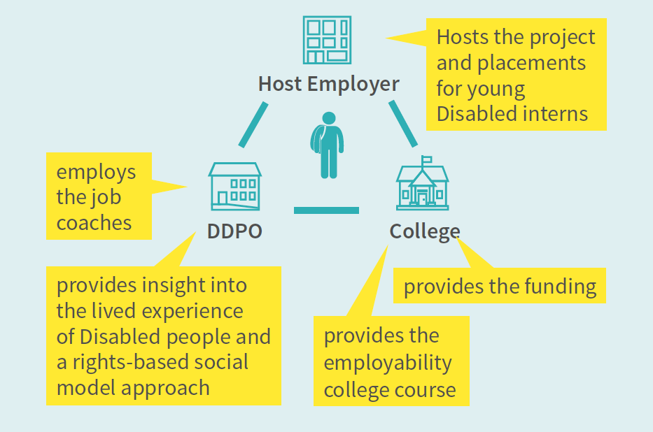 Infographic of the Supported Internship structure