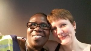 Rose Achayo Obol and Ellen Clifford
