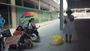 Disabled people outside the Global Disability Summit