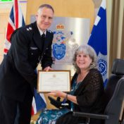 Anne Novis MBE receives Metropolitan Police Commendation Award