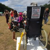 'Invisible' art installation raising awareness of the plight of Disabled People in the UK