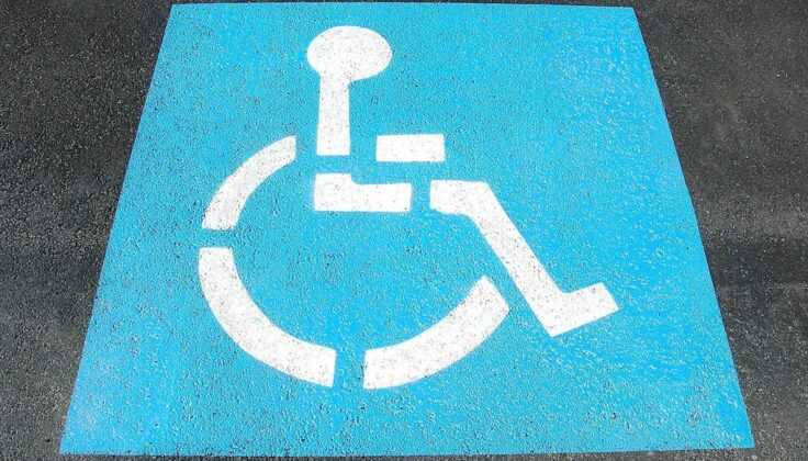 Blue badge parking sign