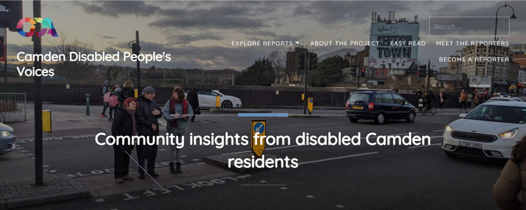 Camden Disabled Voices webpage